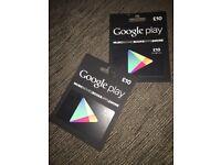 Google play voucher £20