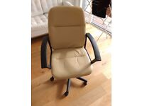Beige Office / Desk Chair