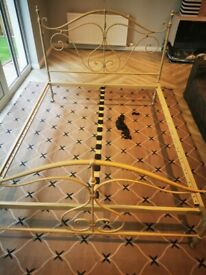 Ornate King Size Metal Bed