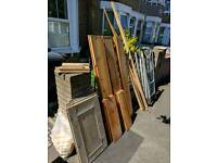 Free wood and ladder