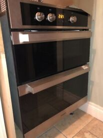 Hotpoint Double oven & extractor fan