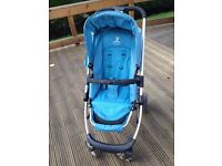 iCandy Cherry Travel system in blue, includes carry cot , pushchair and 2 raincovers