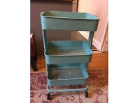Ikea vintage style storage trolley for sale, Aqua, cost £50 selling for £25