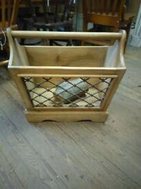 Pine log basket
