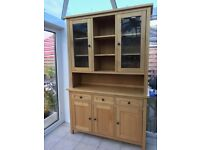 Oak sideboard and top unit