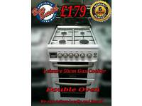 Leisure 50cm Gas Cooker double oven