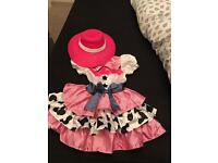 Cow girl dress age 3-4