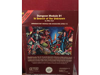dungeons & dragons dungeon module B1 In search of the Unknown