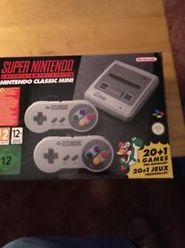 Nintendo Mini Snes, used only twice. Like new. Cash on collection only please.