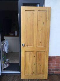 Door internal solid wood pine