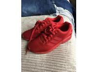 Red Adidas ZX Flux size 7