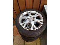 Honda alloys with tyres