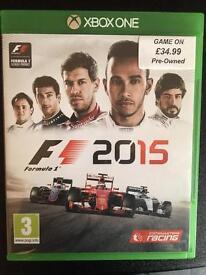F1 Formula 1 2015 XBOX one