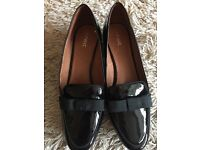 Ladies Next Black Patent Loafers Size 6.5 (40)