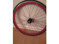 front No logo wheel for fixie bike, red 40 mm deep rim