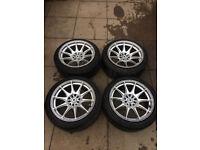 XXR 527 17 x 8.25 and 9.75 alloy wheels 5x100 5x114.3