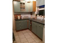 Kitchen Units and Worktop with Sink
