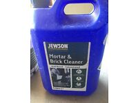 Jewson mortar and brick cleaner - approx 1/2 of a 5L tub