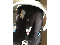 Mamas and Papas Cybex Aton infant car seat with isofix base
