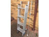 Aluminium 3 piece loft ladder