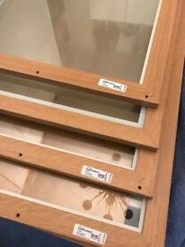 KOMPLEMENT SHELVES glass & oak effect - 7 in total, 1 unopened