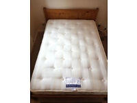 Maya Pine double bed frame & Hypnos mattress - standard double