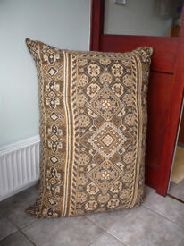 Large Brown (Patterned) Floor Cushion