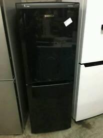 Beko black fridge freezer 5ft tall