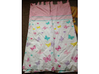 Pink and White Butterfly Laptop Nursery Curtains 66x54 as new will post