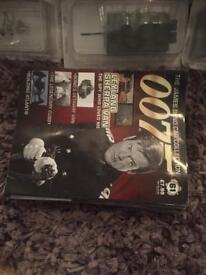 James Bond 007 diecast cars and magazines