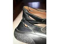 Black leather ladies, Hotter shoes size 8