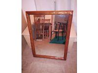 Wooden mirror fairly large