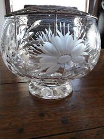 For sale. crystal rose bowl.