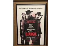 Django Unchained Movie Poster Brand New Framed Laminated Extra Large