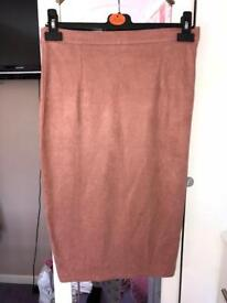 Misguided pink pencil skirt
