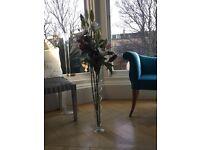 Beautiful wedding glass vases x 10