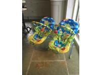 2x baby bouncer reclining activity musical chairs