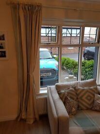 Laura ashley duckegg stripe curtains £40