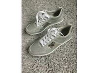 Brand New Silver Guess trainer style shoe Size 6