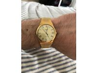 Gold Longines Swiss Mens Watch - 1978 (Lovely condition and fully working)