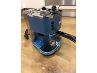 Delonghi Vintage Espresso Machine, Blue