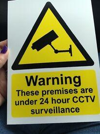 4 wide angled CCTV set up
