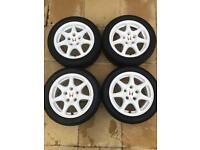 Honda Civic Type R EK9 wheels 97-99 Championship White OEM Dc2 integra 114.3 x 5 alloys for sale  Swansea