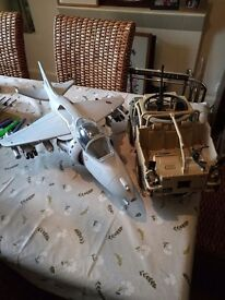 HM Armed forces (action man) jet and jeep