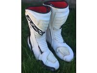 Motorcycle race boots