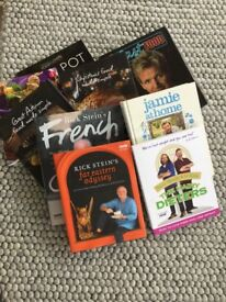 Assortment of cookery books