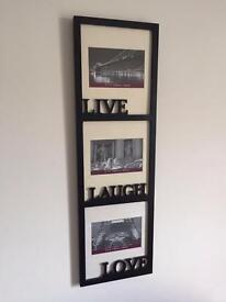 Three tiered photo frame