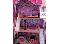 Amelia dolls house, extra furniture and campervan