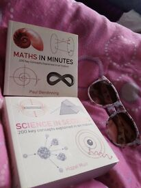 Two books: maths in minutes, science in seconds