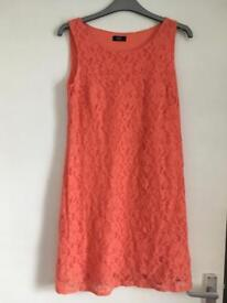 Coral lace dress size 8